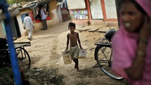 Global water news: India lack basic amenities such as sanitation and water.