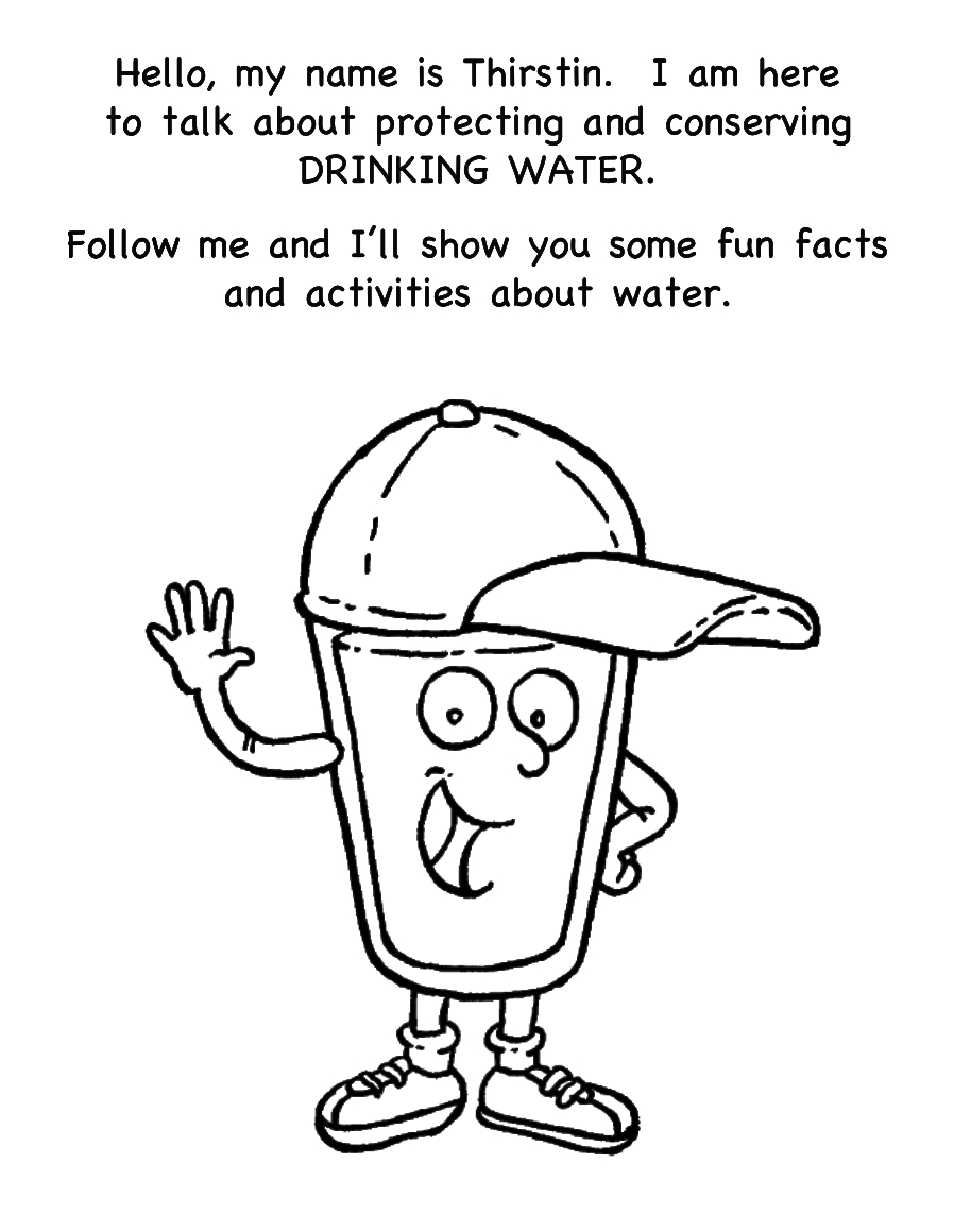 Free coloring pages of conserve water