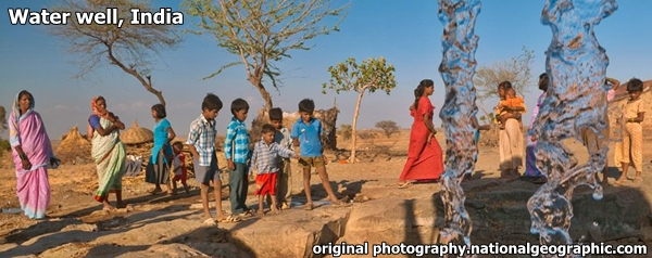 Water Well India National Geographic original photo