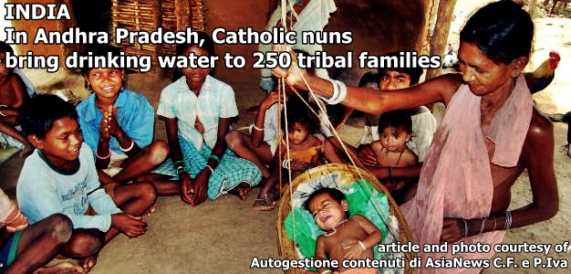 Catholic nuns bring drinking water to 250 tribal families