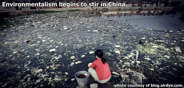Environmentalism Begins to Stir in China
