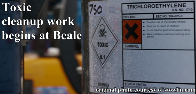 Work has begun to clean a hazardous substance in the water and soil near Beale Air Force Base,