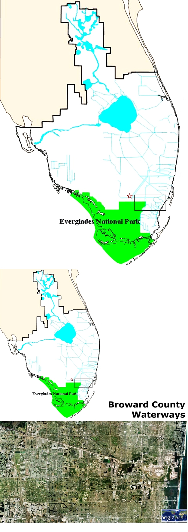 • Next we talked about the water-cycle, south Florida's watersheds and the main purpose of the participants research during the field trip