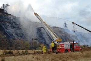 Water Used on Coal Mine Fire Contaminated