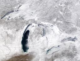 ice cover on great lakes