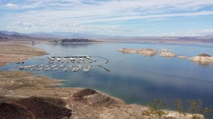 For the first time since the construction of the Hoover Dam, water levels in Lake Mead are being intentionally lowered due to the ongoing drought. The result is striking. Photo Credit: Eric Holthaus