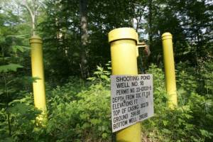 A test well in a part of the DuPont facility in Pompton Lakes where defective blasting caps were detonated. (Photo credit: CHRIS PEDOTA/STAFF PHOTOGRAPHER)