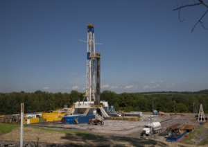 Fracking rigs like this one are a common site in America