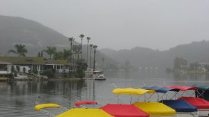 Work to diagnosis the sources of contamination in Lake San Marcos is underway. Downpours in the region this week aided ecologists trying to collect data during rain events. (Photo credit: Teri Figueroa)