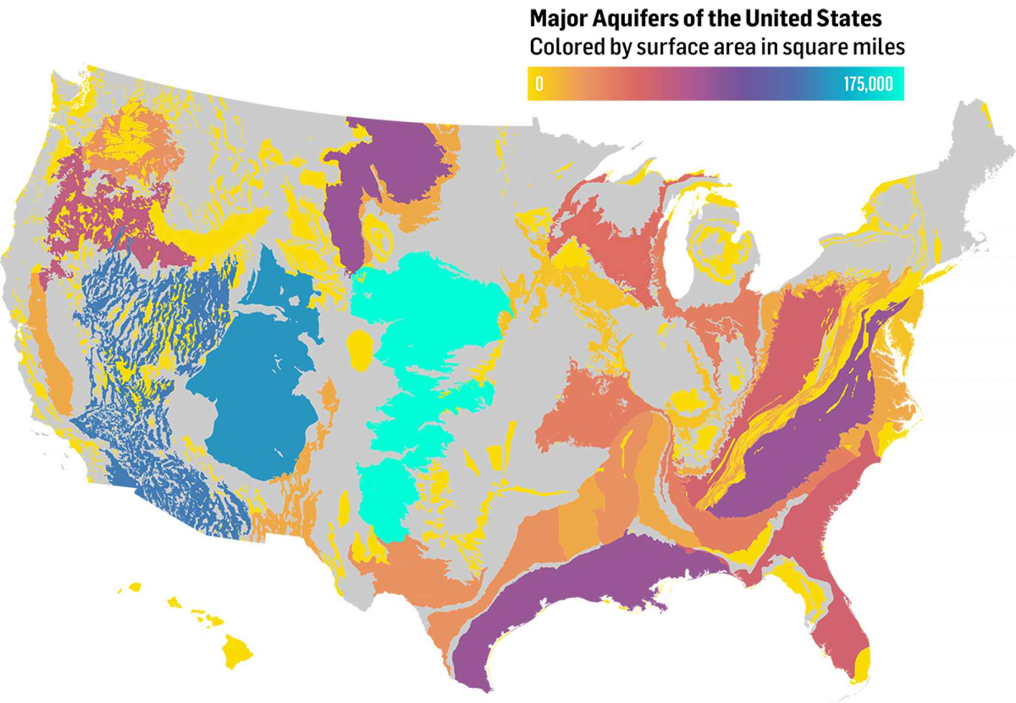 Forecast Western States Face Enduring Water Crisis - Aquifer map of us