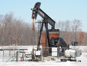 Trendwell Energy oil well on Ida Center Rd. just northwest of Alcott Rd. in Summerfield Township. (Photo credit: Monroe News photo by TOM HAWLEY)