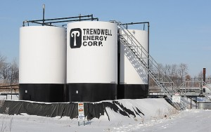 Trendwell Energy oil well on Ida Center Rd. just northwest of Alcott Rd. in Summerfield Township. (Photo credit: -Monroe News photo by TOM HAWLEY)