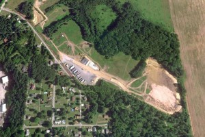 An aerial view of the radioactive-waste dump site in Parks Township, Pa. (Photo credit: Army Corps of Engineers)