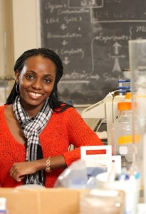 Adadevoh's research focuses on using chemotactic bacteria — bacteria that can seek out contaminates — to rehabilitate groundwater. (Photo credit: The Cavalier Daily)