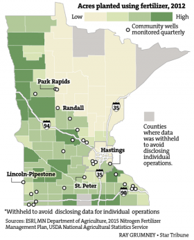 Minnesota's drinking water contamination with nitrate