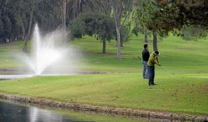 Recycled waste water is used at the Montebello Golf Course in Montebello. California's drought has put new emphasis on expanding programs to recycle waste water. (Photo credit: File photo)