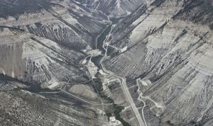 Fracking, such as this taking place at Roan Plateau, Colorado, USA, is proving to be controversial.