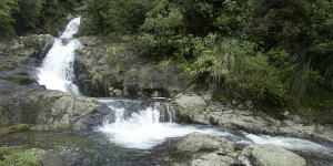 Permanent Warning Against Swimming at Kaiate Falls