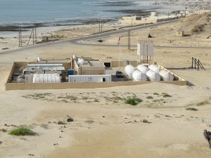 Modern Water's containerized forward osmosis desalination plant at Al Khaluf, Oman Photo credit: Orgebot.