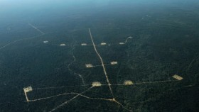 Coal seam gas storage ponds in the Pilliga State Forest in NSW. Photo Credit: Dean Sewell