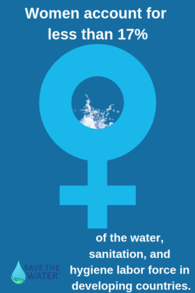 women in water