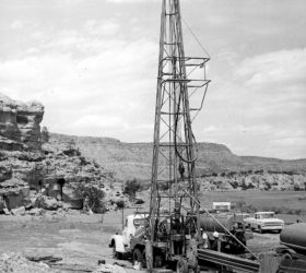 uranium ore drill rig in New Mexico