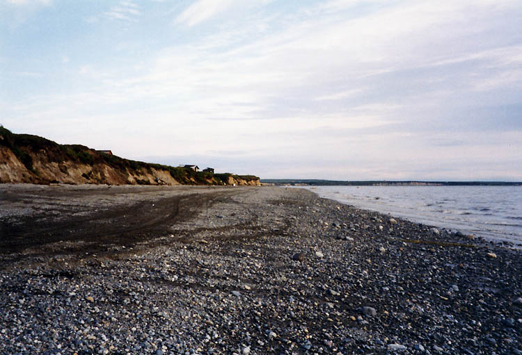 Bristol bay shore line in Alaska where mixing zones threaten clean water and aquatic life.